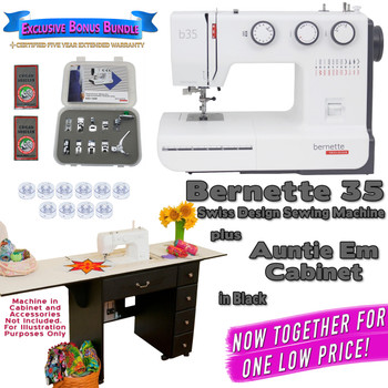 Bernette Sewing Machine Arrow Sewing Cabinet Combo 11