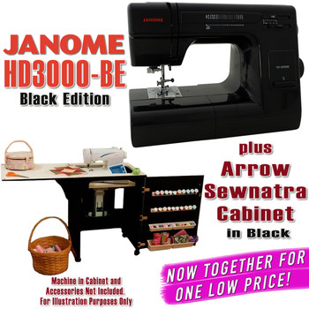 Janome Sewing Machine Arrow Sewing Cabinet Combo 2