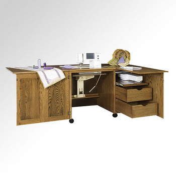 Schrocks of Walnut Creek Embroidery Cabinet Duo in Real Birch Wood and Your Choice of Stain