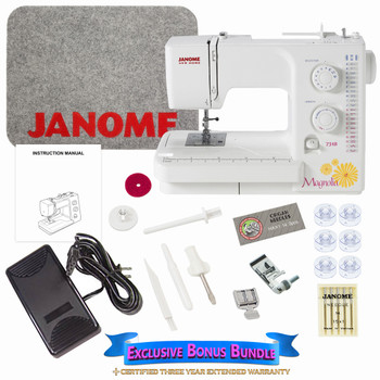 Janome Magnolia 7318 - Sewing Machine with Exclusive Bonus Bundle