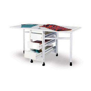 Fashion Sewing Cabinets 98 Cutting and Crafting Table With Three Drawers