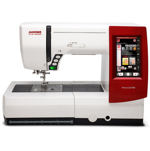 Janome Memory Craft 9900 Sewing Machine Front View