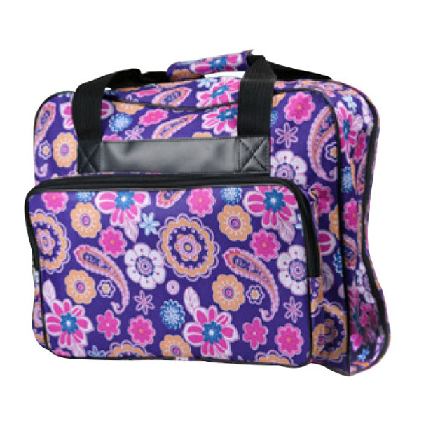 Janome Sewing Machine Tote Bag in Purple with Floral Pattern $29.99