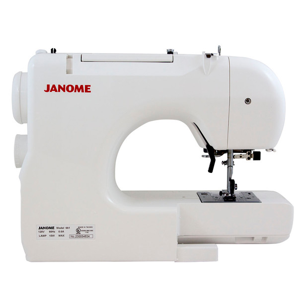 Janome Jem Gold Plus 661GTrim & Stitch Back View