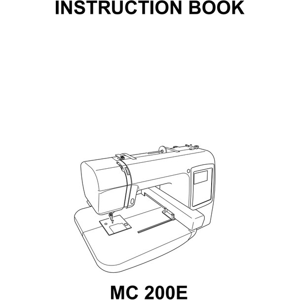 Janome Memory Craft 200E Embroidery Machine (Refurbished) - Included Instruction Manual