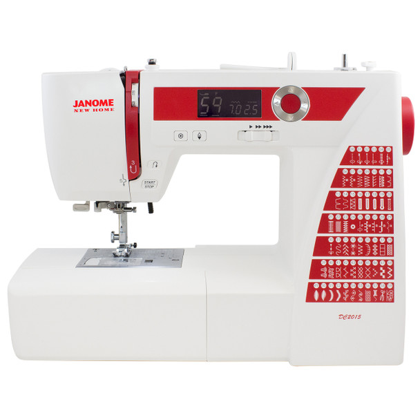 Janome DC2015 Computerized Refurbished Sewing Machine - Front view