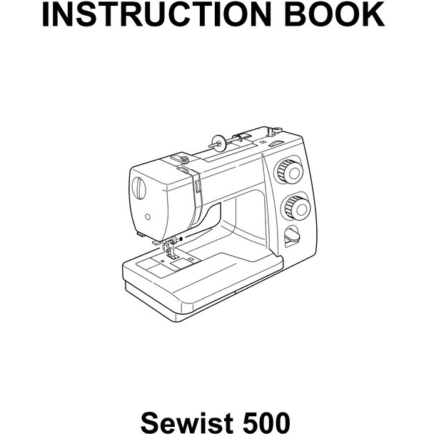 Janome Sewist 500 Refurbished Sewing Machine - Instruction book