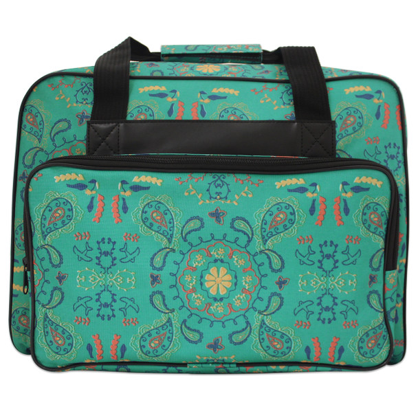 Janome Sewing Machine Tote bag in Green Paisley Pattern $29.99