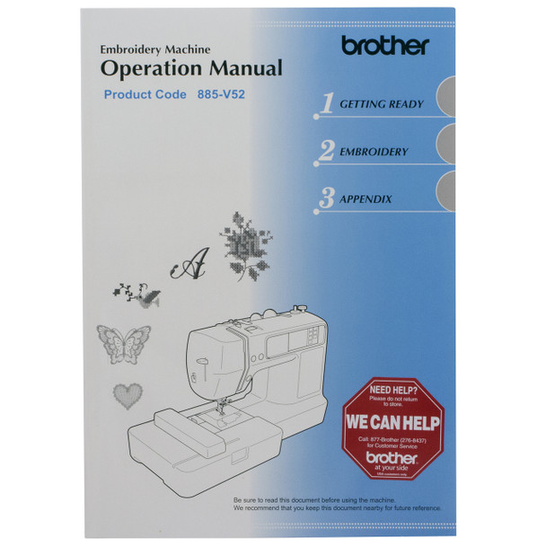 Brother PE540D Disney Embroidery Machine manual