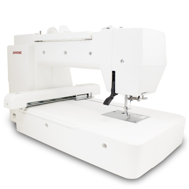 Janome Memory Craft 400E Embroidery Machine (Refurbished) - Rear view