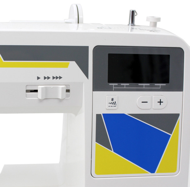 Janome MOD-30 Computerized Sewing Machine (Refurbished) - Backlit LCD screen with easy navigation keys