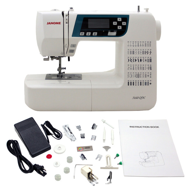 Janome 3160QDC-B Sewing and Quilting Machine - Bonus Bundle!