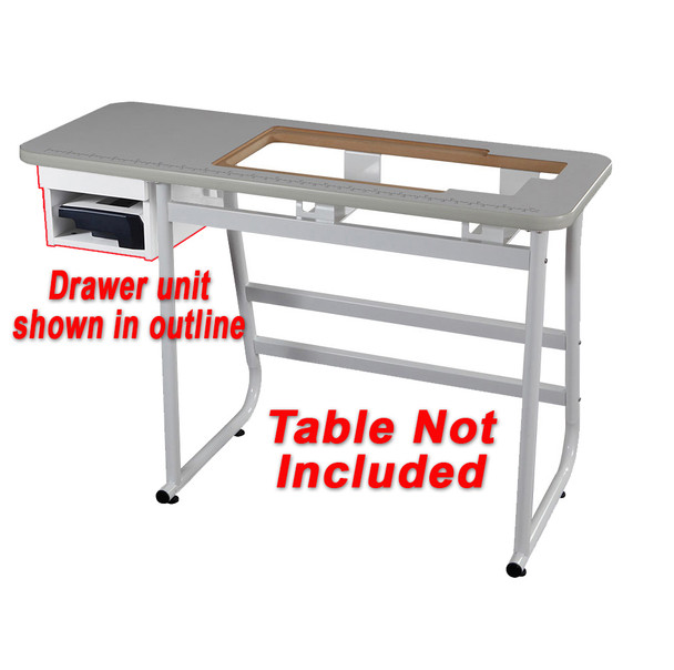 Janome drawer and shelf for universal sewing table ii 16000 free janome watchthetrailerfo