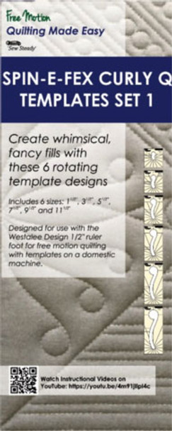 sew steady westalee spin e fex curley q template 6pc set 1 99 00