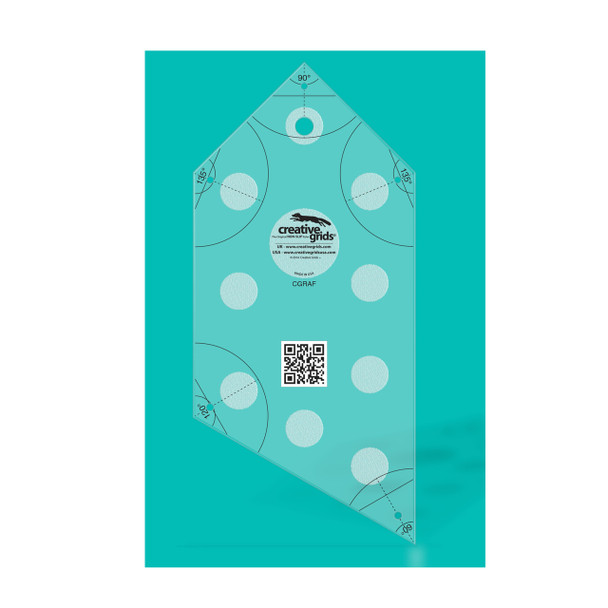 Creative Grids Angle Finder Quilt Ruler And Binding Tool 2099