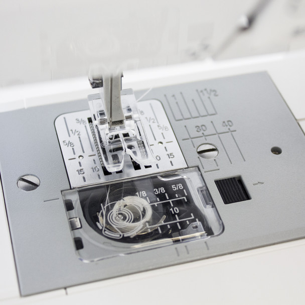 Janome 8050 Computerized Sewing Machine (Refurbished) - Plate Top View