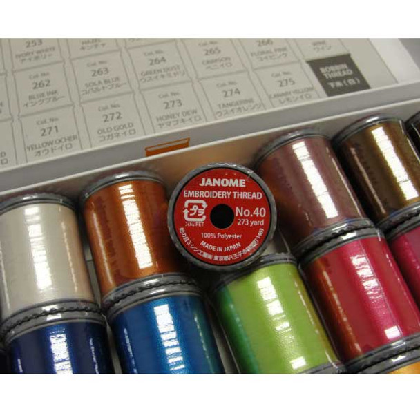 Janome Polyester Embroidery Thread Assortment 3 17900 Free Shipping