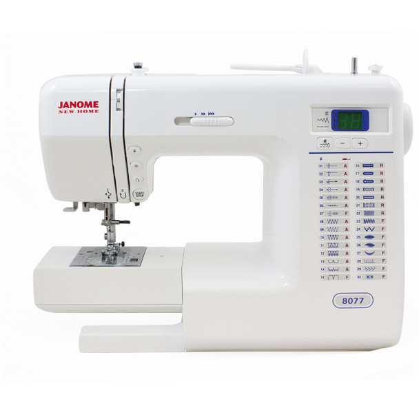 Janome 8077 Computerized Sewing Machine - Alternate Front View