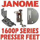 Janome 1600P Accessories and Presser Feet