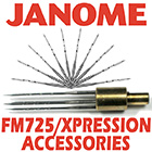 Janome FM725 Xpression Accessories
