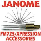 Janome FM725 Xpression Accessories