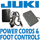 Juki Power Cords & Foot Controls
