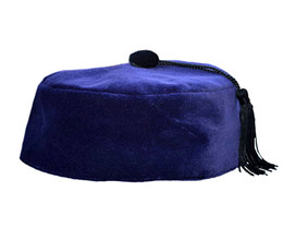 Purple Velvet Smoking Cap with Tassel