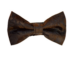 Brocade Leaf Print Bow Ties in Your Favorite Colors