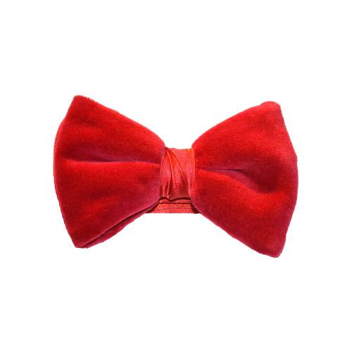 Velvet Bow Tie - Red