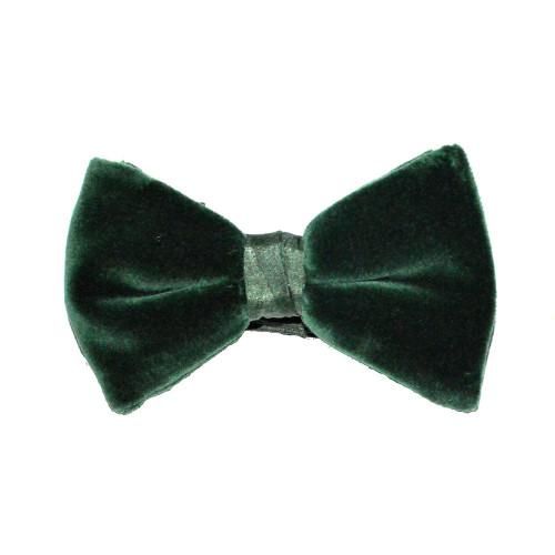 Velvet Bow Tie - Green