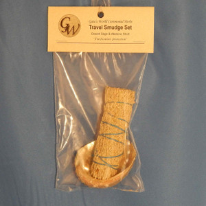 (HO320E4) Travel Smudge Set with desert sage