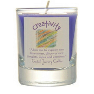 Creativity Glass Filled Votive Candle