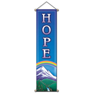 Hope Mountain Affirmation Banner