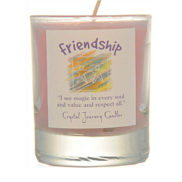 Friendship Glass Filled Votive Candle