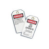 """Ideal Heavy-Duty Lockout Tags - """"DO NOT OPERATE"""" (Pack of 5)"""