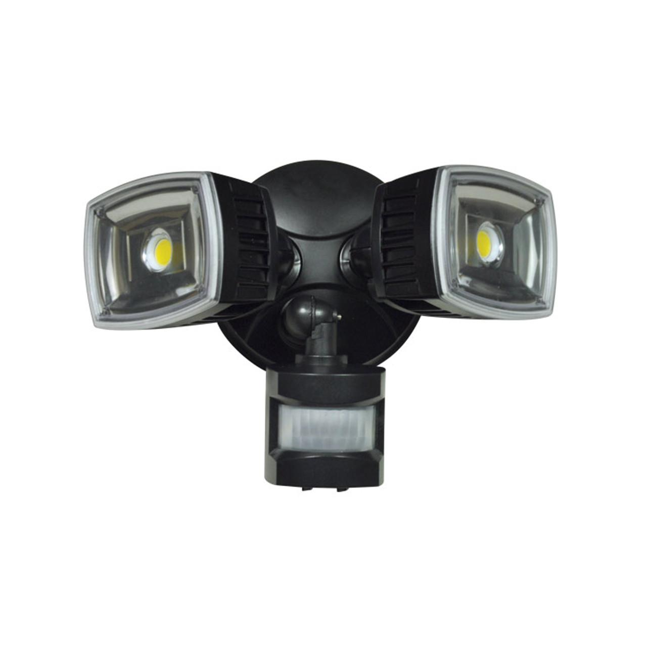 Rab Design Led Flood Lights: RAB DESIGN LED Twin Floodlight Motion Detector 28W