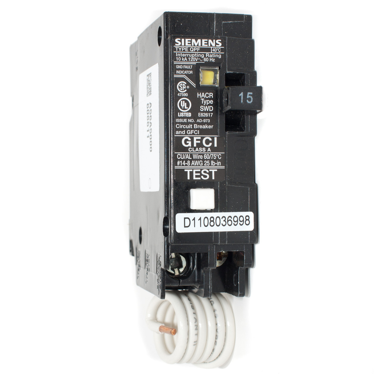 Gfci Circuit Breaker Perfect 220 Volt How To Test A Fine Siemens 15a Single Pole Pushon Throughout