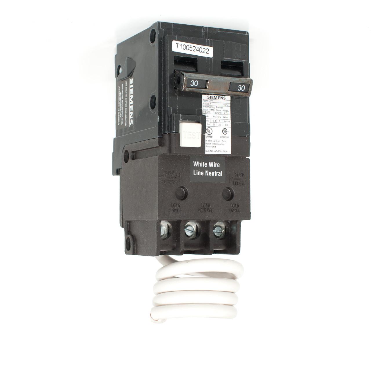 Siemens 30A Two Pole GFCI Push-On Breaker - TremTech ...