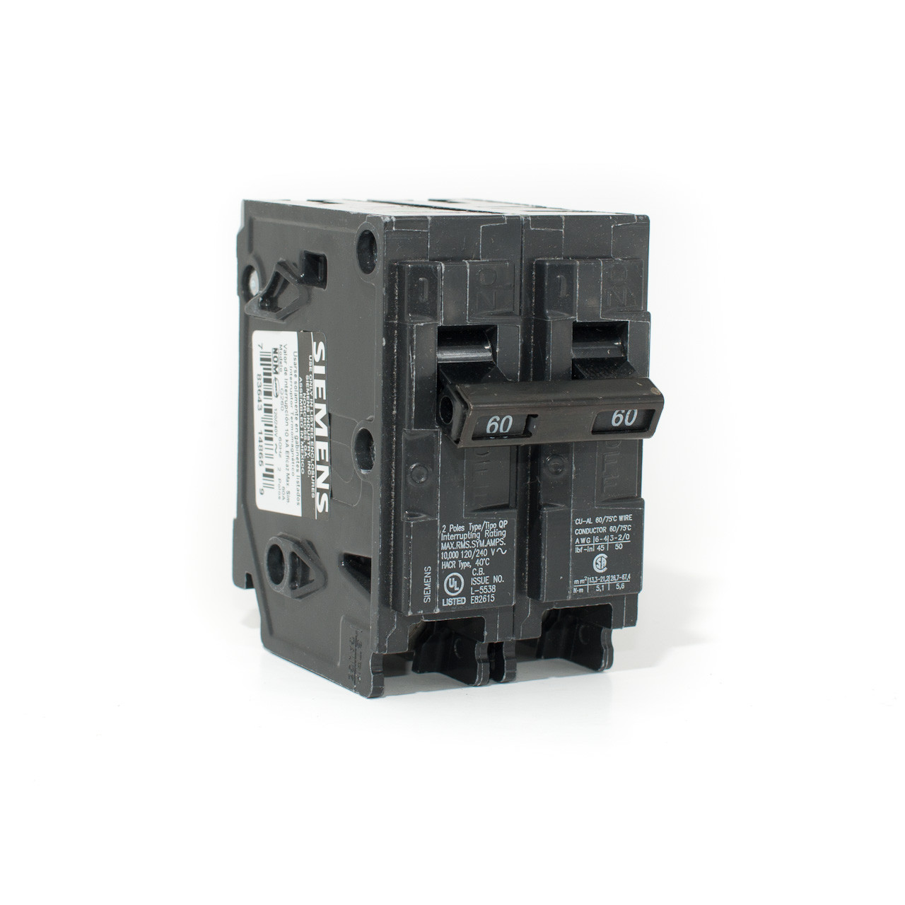 Siemens 60A Two Pole Push-On Breaker - TremTech Electrical Systems Inc