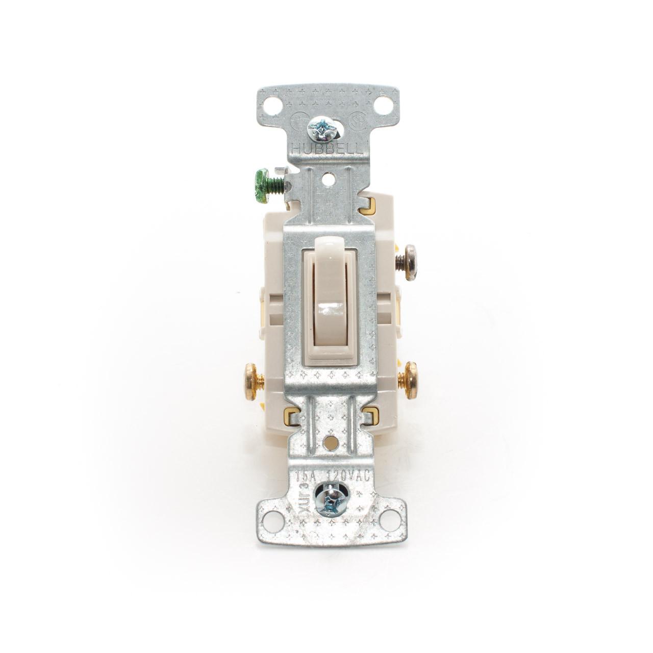 Toggle Switch Single Pole 15a 120v Light Almond Tremtech Ivory