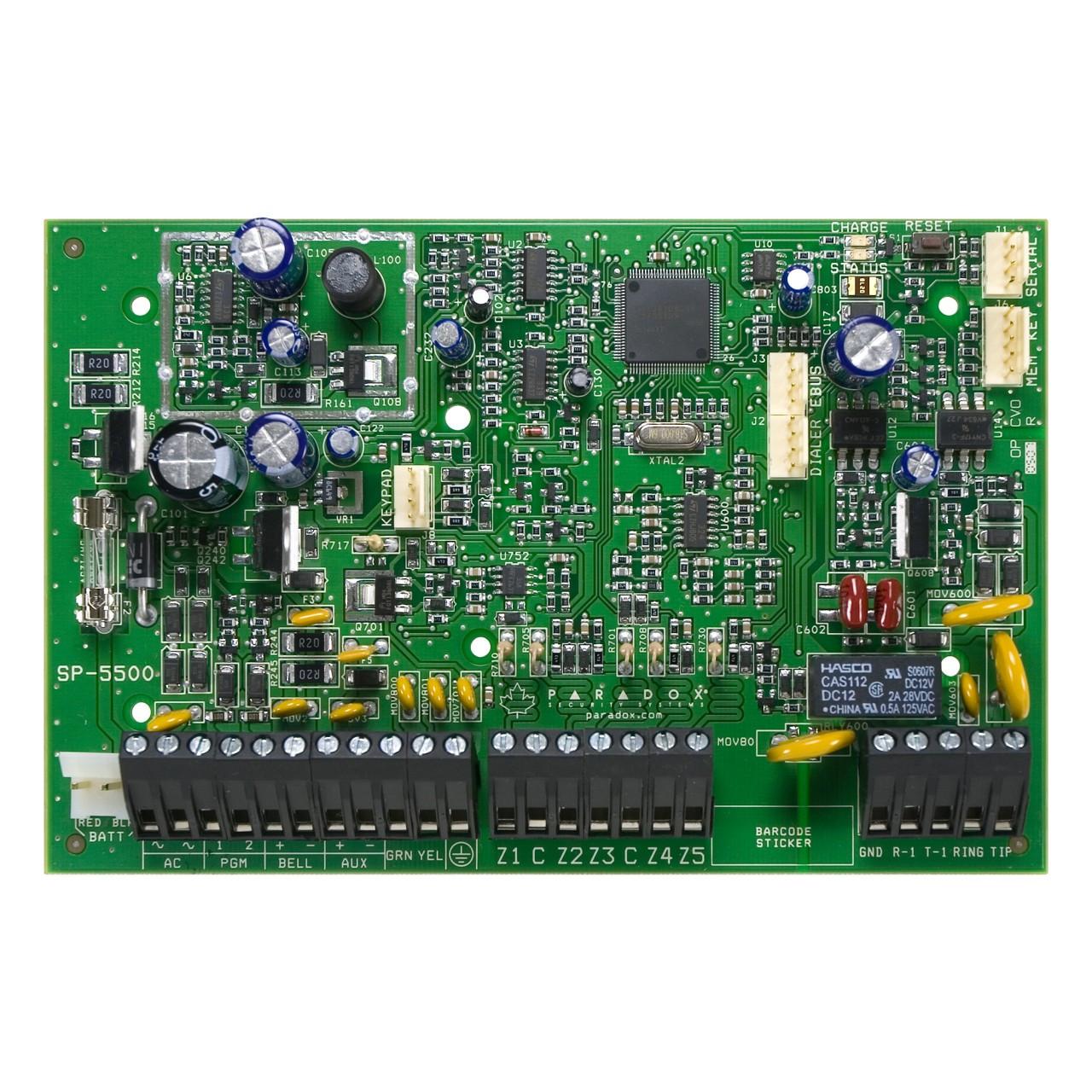 paradox sp5500  5 to 32 zone alarm panel