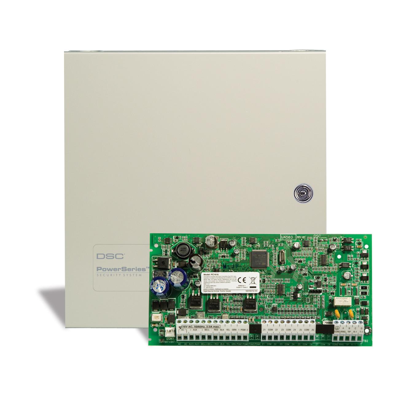 dsc pc1616 6 to 32 zone control panel tremtech electrical systems inc rh store tremtech com dsc 1616 alarm panel manual dsc alarm system manual pc1616