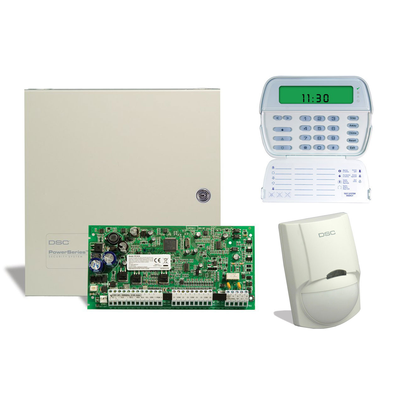 dsc 6 zone alarm kit with keypad and motion detector tremtech rh store tremtech com dsc alarm system user manual dsc alarm pk5500 user manual