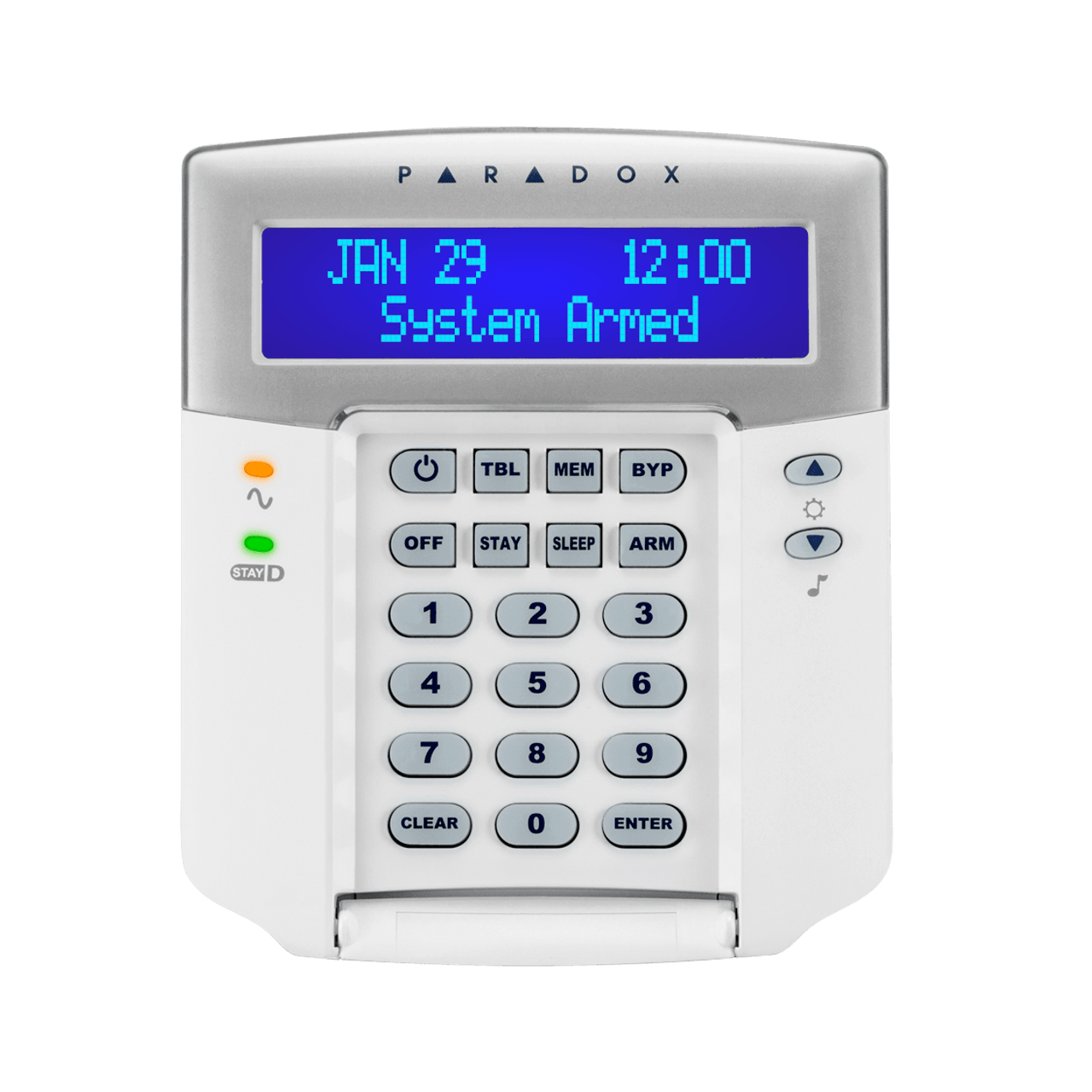 paradox k32lcd 32 character hardwired lcd keypad english white rh store tremtech com Paradox Security Canada Paradox Security Products