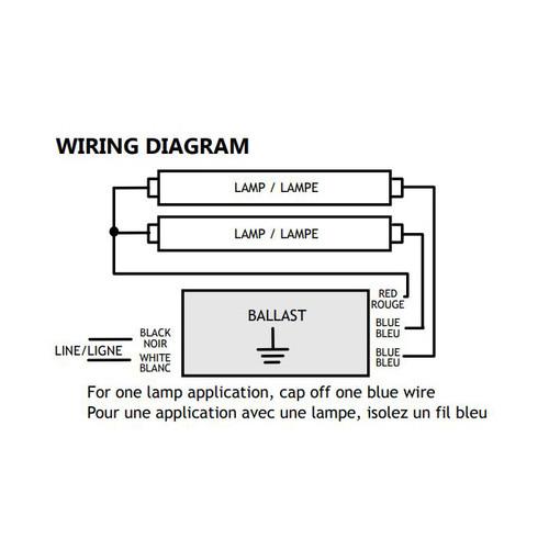 standard 120v pl series programmed start electronic ballast 1 2 lamp rh store tremtech com 3 Lamp Ballast Wiring Diagram T8 Ballast Wiring Diagram