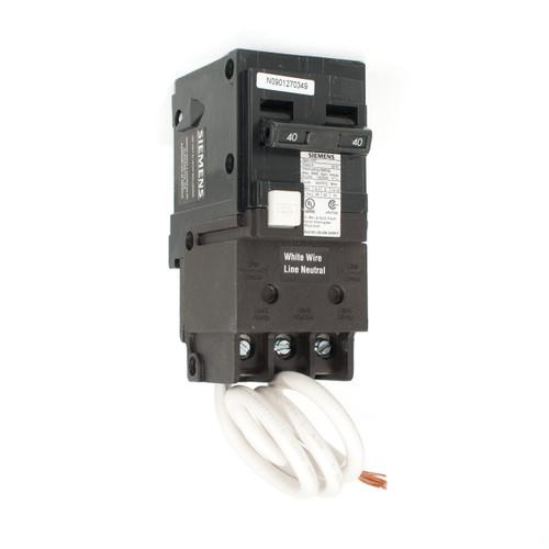 Siemens 40A Two Pole GFCI Push-On Breaker