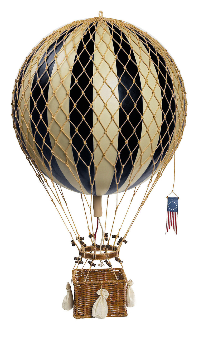 Floating the Skies Hot-Air Balloon Black