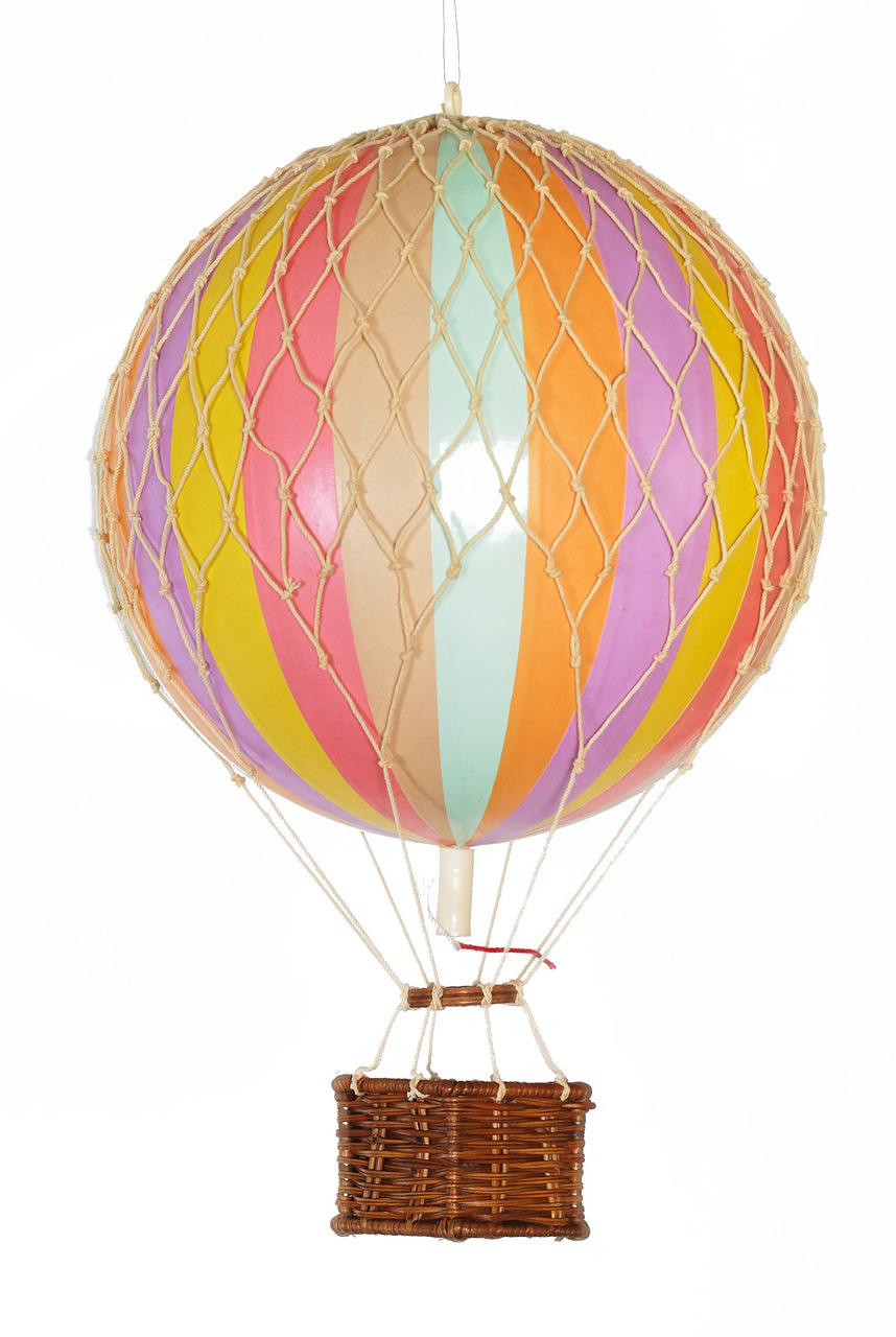 Floating the Skies Hot-Air Balloon Pastel Rainbow