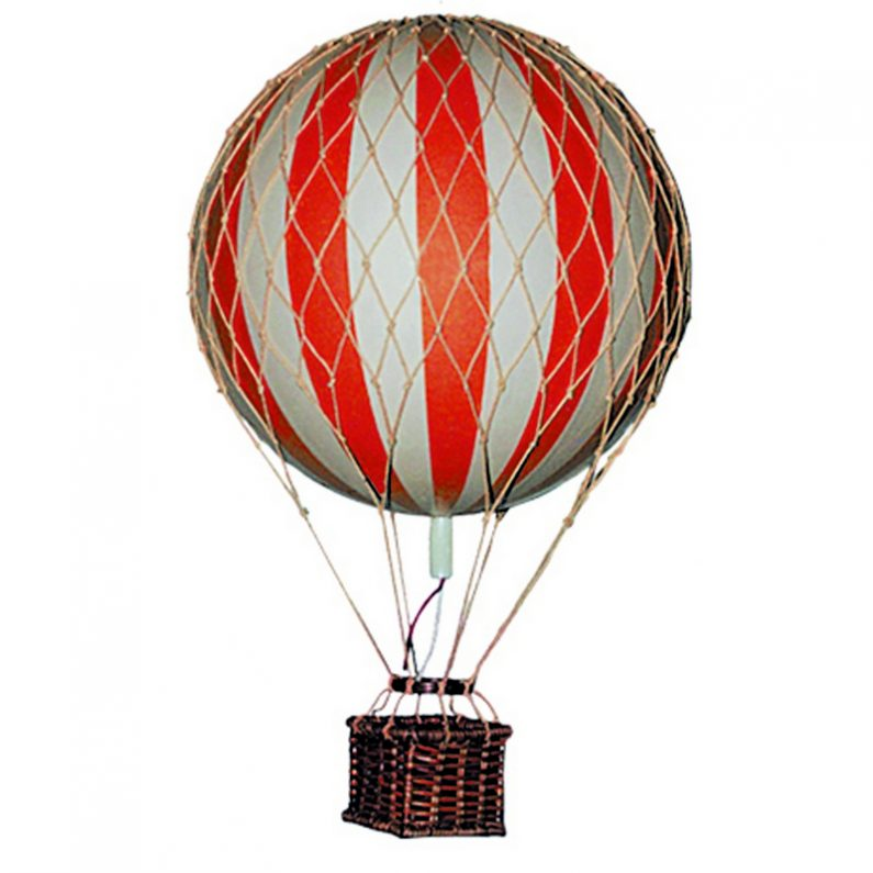 Floating the Skies Hot-Air Balloon Red