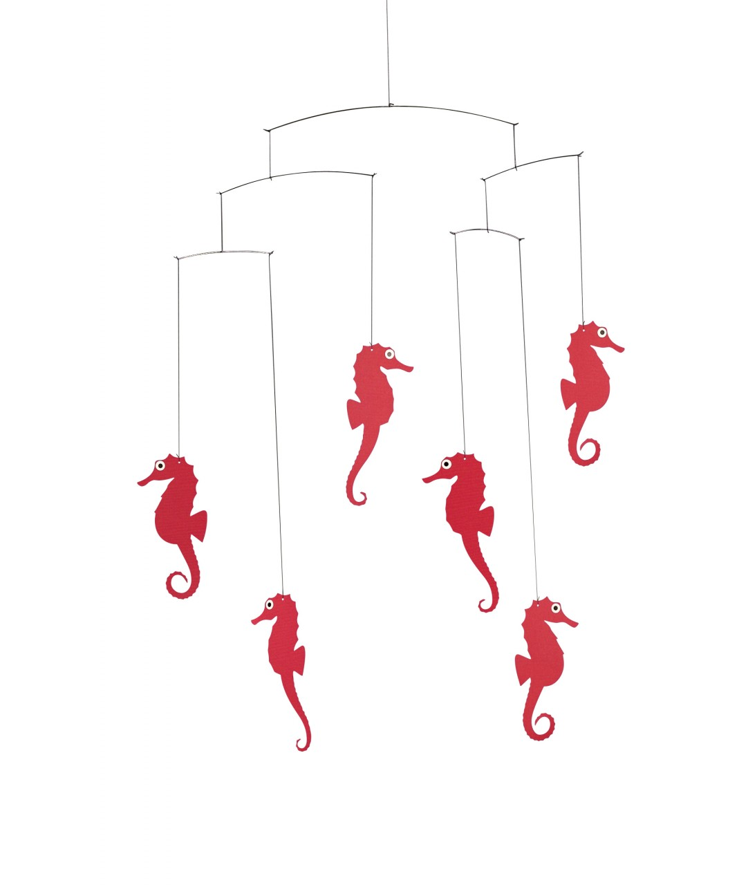 Flensted Seahorse Mobile in Red